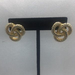 4 for $12: Gold Tone Knot Earrings